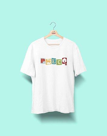 Camiseta Universitária - Psicologia - Colagem - Basic