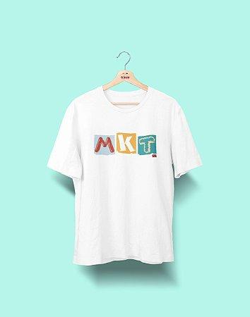 Camiseta Universitária - Marketing - Colagem - Basic