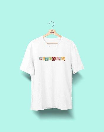 Camiseta Universitária - História - Colagem - Basic