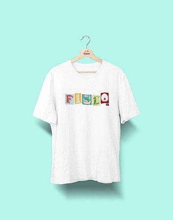 Camiseta Universitária - Fisioterapia - Colagem - Basic