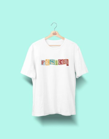 Camiseta Universitária - Física - Colagem - Basic