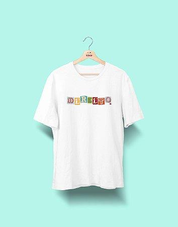 Camiseta Universitária - Direito - Colagem - Basic