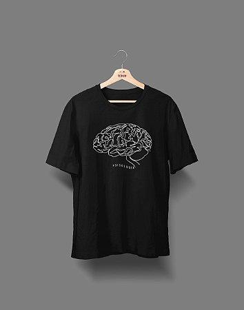 Camiseta Universitária - Psicologia - Fine Line - Basic