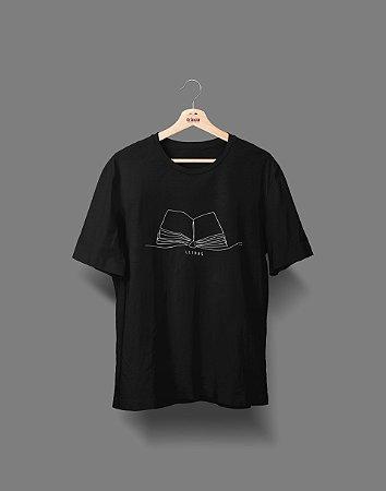 Camiseta Universitária - Letras - Fine Line - Basic