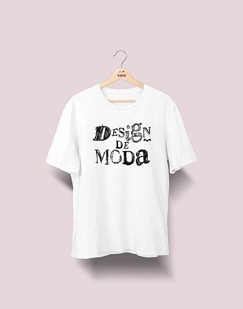 Camiseta Universitária - Design de Moda - Nanquim - Basic