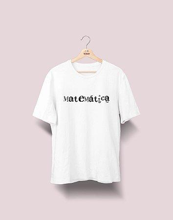 Camiseta Universitária - Matemática - Nanquim - Basic