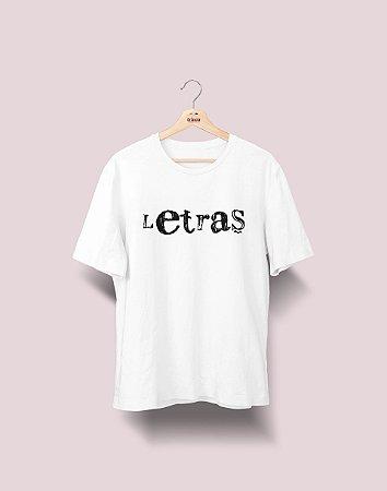 Camiseta Universitária - Letras - Nanquim - Basic