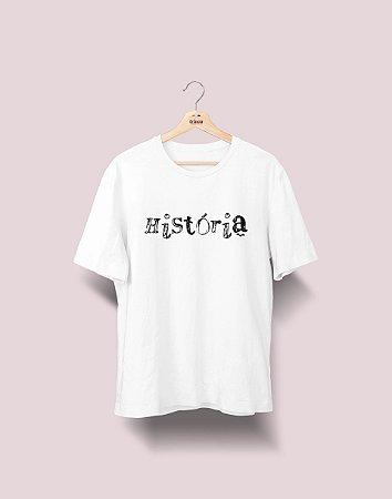 Camiseta Universitária - História - Nanquim - Basic