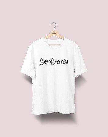 Camiseta Universitária - Geografia - Nanquim - Basic