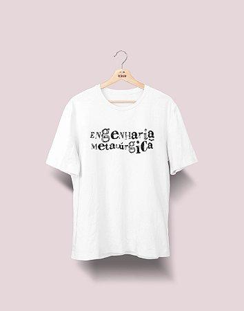 Camiseta Universitária - Engenharia Metalúrgica - Nanquim - Basic