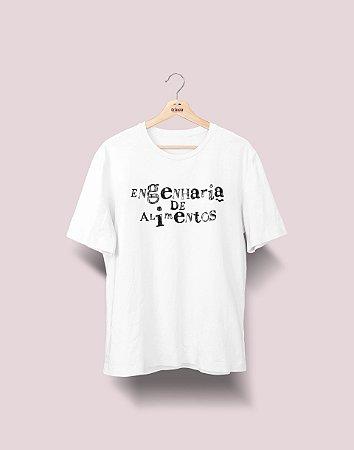 Camiseta Universitária - Engenharia de Alimentos - Nanquim - Basic