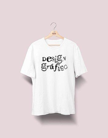 Camiseta Universitária - Design Gráfico - Nanquim - Basic