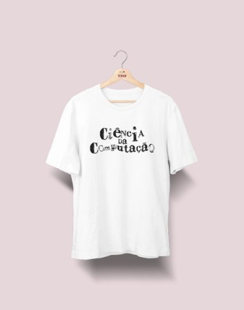 Camiseta Universitária - Ciência da Computação - Nanquim - Basic