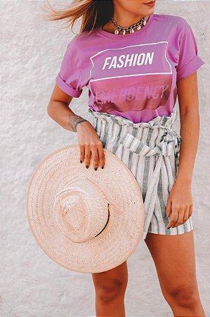 "T-Shirt M/M ""Fashion Emergency"" - Lilás"
