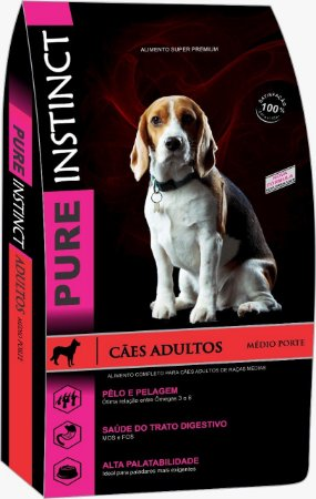 RAÇÃO PURE INSTINCT ADULTO MEDIUM