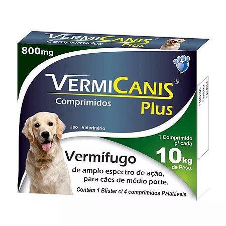 VERMI CANIS PLUS 800 MG PARA CÃES DE 10KG