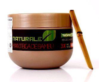 LANÇAMENTO- Manteiga de Bambú Pré Progress- Máscara de Hidratação Naturale Brasil - 300g