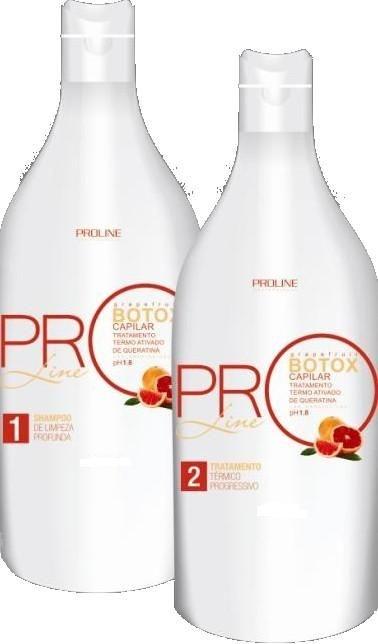 PROMOÇÃO -BOTOX Capilar PROLINE Citrico Grapefruit Kit -2x1Litro