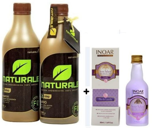 Escova Progressiva 100% Orgânica Naturale 500ml - SEM Formol+ Óleo INOAR BRINDE