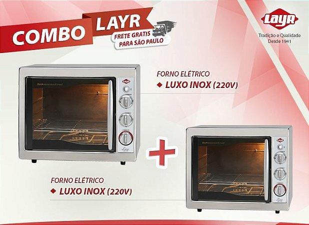 Forno Elétrico Luxo Inox 2.4 (220V) + Fornos Elétrico Luxo Inox 2.4 (220V)