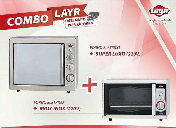 Forno Elétrico Super Luxo Inox 2.4 (220V) + Forno Elétrico Midy Inox (220V)