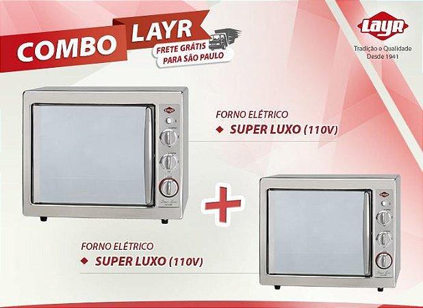 Forno Elétrico Super Luxo Inox 2.4 (110V) + Forno Elétrico Super Luxo Inox 2.4 (110V)