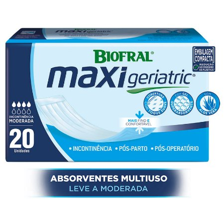 Absorvente Biofral Maxi Geriatric 20 Unidades