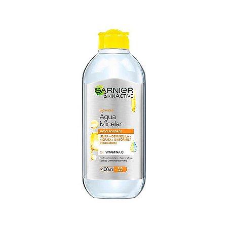 Água Micelar Garnier SkinActive Antioleosidade Vitamina C Oil Free com 400ml