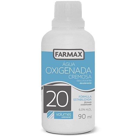 Água Oxigenada Cremosa 20 volumes Farmax com 90ml