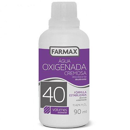 Água Oxigenada Cremosa 40 volumes Farmax com 90ml