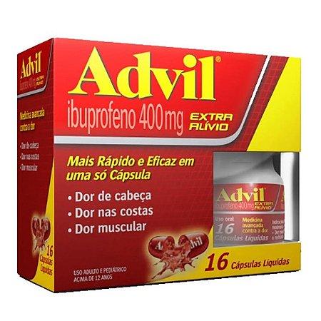 Advil 400mg com 16 Cápsulas Líquidas