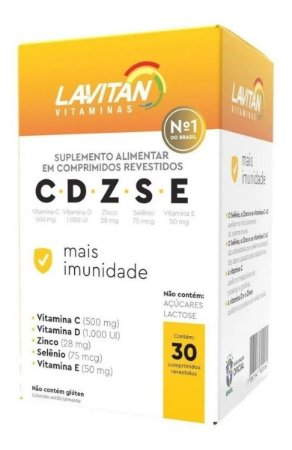 Lavitan C. D. Z. S. E. Mais Imunidade com 30 Comprimidos