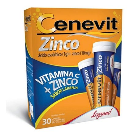 Cenevit Zinco 1g com 30 Comprimidos Efervescente