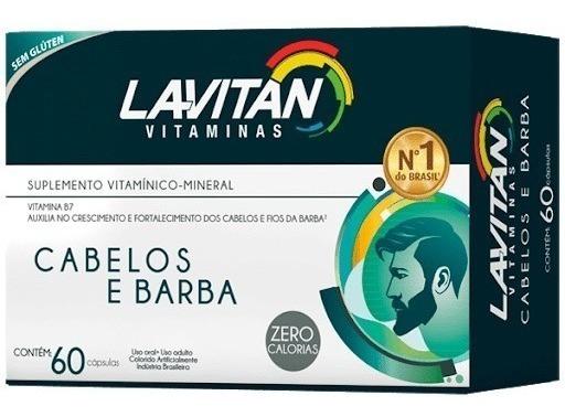 Lavitan Cabelos e Barba com 60 Comprimidos