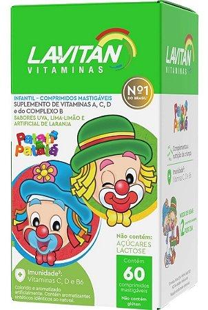 Lavitan Kids Sabor Frutas com 60 Comprimidos Mastigáveis