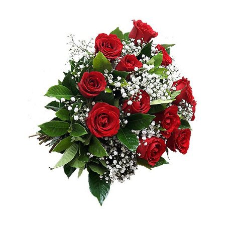 Buquê Clássico 12 Rosas Vermelhas