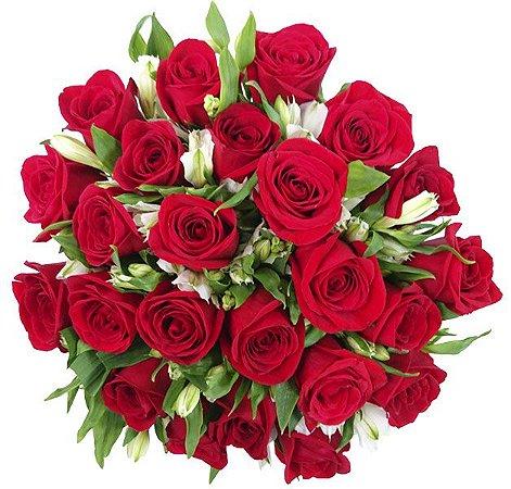 Buquê Especial 24 Rosas Vermelhas