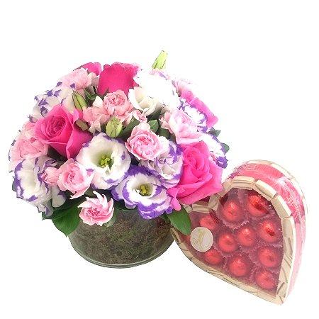 Mix de Flores e Chocolate
