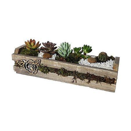 Jardineira de Suculentas e Cactus