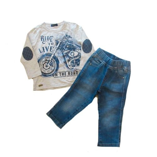 Conj T-Shirt M/L e Calça Jeans Bross
