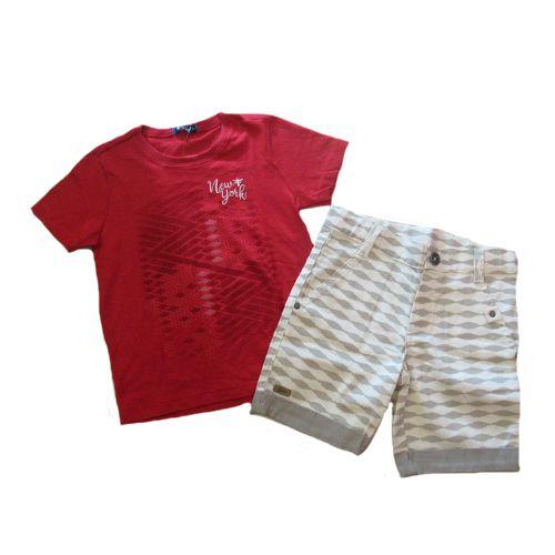 Conjunto T-Shirt e Bermuda Sarja Bross