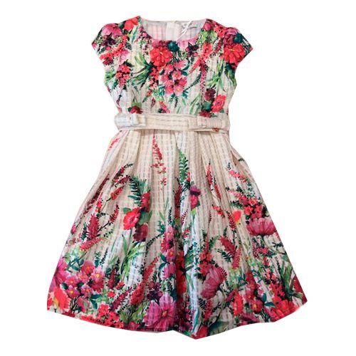 Vestido em Tecido Floral Momi