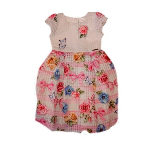 Vestido Floral em Organza Momi