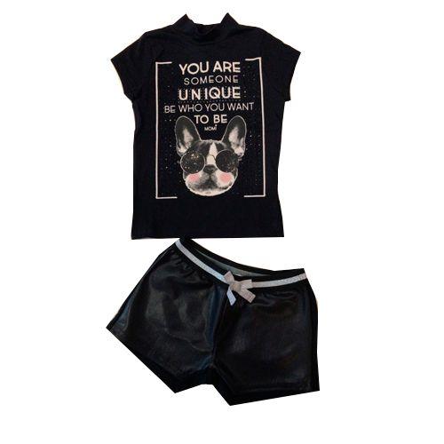 Conjunto Blusa Dog/Short