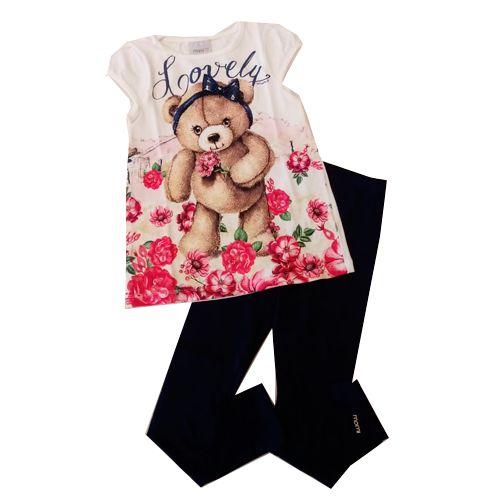 Conjunto Blusa Urso/Legging