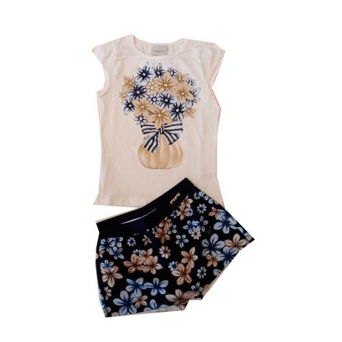 Conjunto Blusa/Short Saia Floral