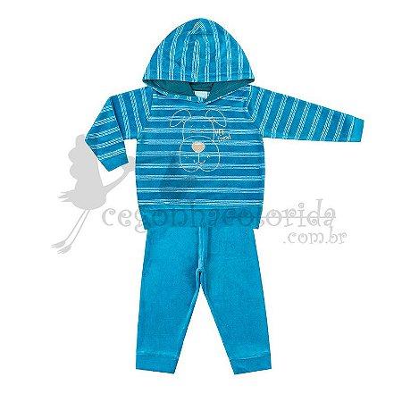 Conjunto Bebê Menino em Plush Pettenati Kiko Baby Tamanho P
