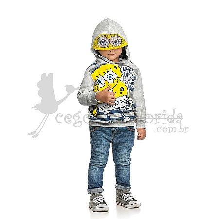 Moletom Bebê-Infantil Menino Bob Esponja