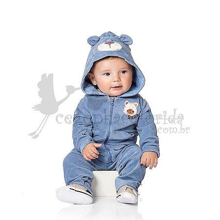 Conjunto Bebê Menino com Capuz de Ursinho Kiko Baby