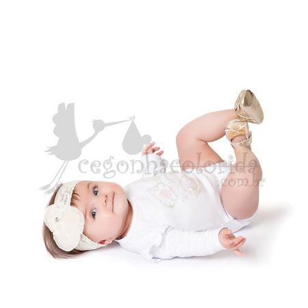 Body Manga Longa Bebê Menina Love Bird Kiko Baby
